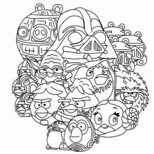 Kleurplaten Angry Birds Star Wars 2.Star Wars Angry Birds Coloring Pages