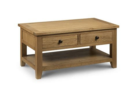 zaragoza oak coffee table   drawers jb