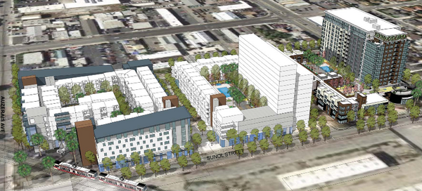 The proposed Ohlone development in San Jose's Midtown neighborhood is on hold as the developer says it can't make the project pencil out given conditions it agreed to earlier.