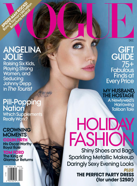 Her latest photophoot for Vogue December 2010 issue looks great. Angelina