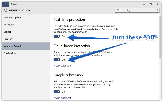 how to permanently disable windows 10 real time protection tech poison