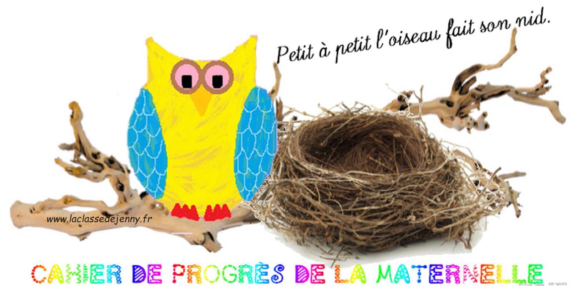 cahier de progrès issu de la classe de Jenny (http://www.laclassedejenny.fr)