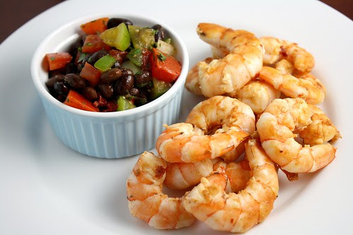 Chipotle Shrimp with Tomato Black Bean Salsa