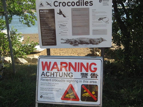 croc sighting sign Cooktown