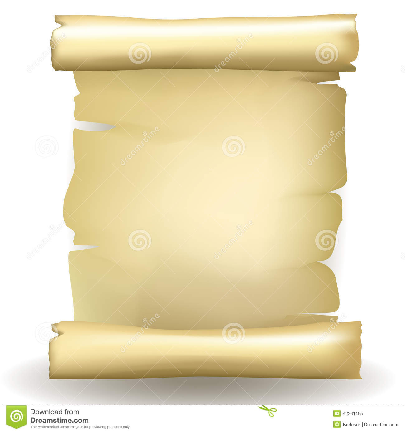 Ancient Scroll Paper Blank Stock Image - Image: 13953341