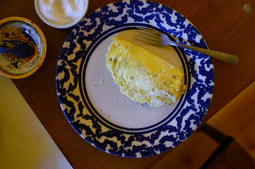 omelets with the smoked duck breast filling