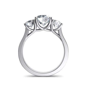 Three Stone Trellis Engagement Ring Natalie Diamonds