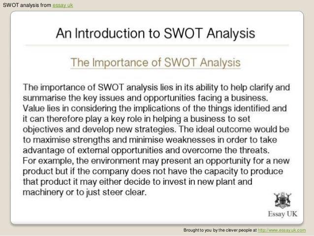 how to write a swot analysis essay