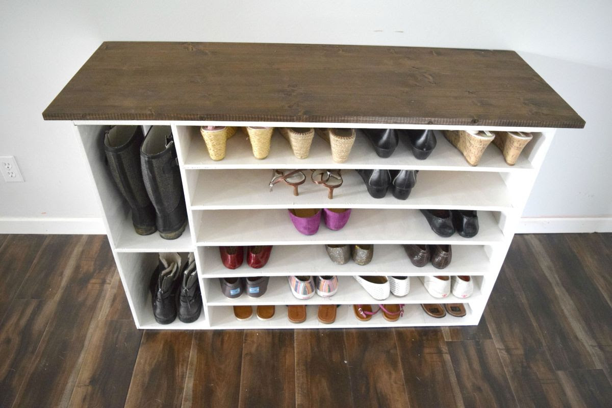 How To Make A Wooden Shoe Rack.Building Shoe Storage