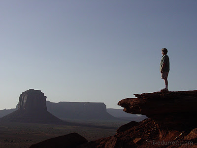 Mike Durrett in Monument Valley. Photo copyright 2003-2004 Mike Durrett, all rights reserved.