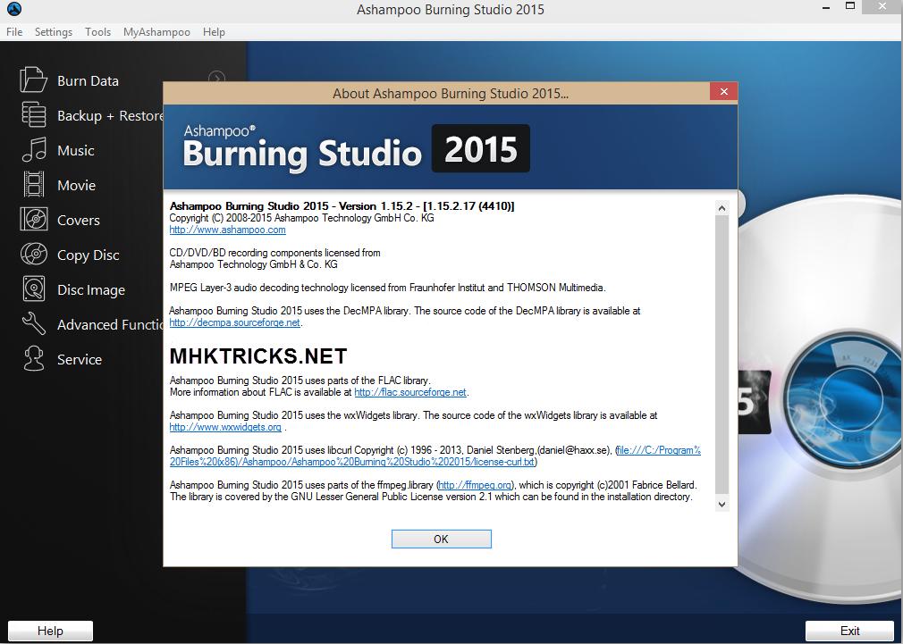 free activation key for ashampoo burning studio 2016