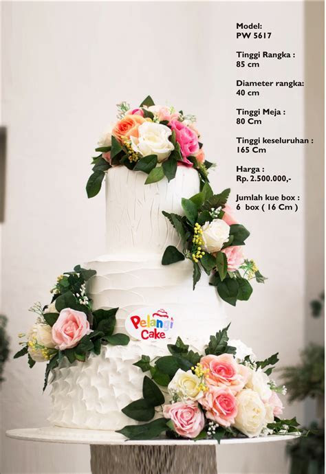 Gallery / Koleksi Wedding Cake dari Pelangi Cake Jakarta