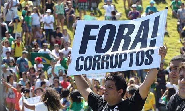 Fora corruptos (Foto: Divulgação)