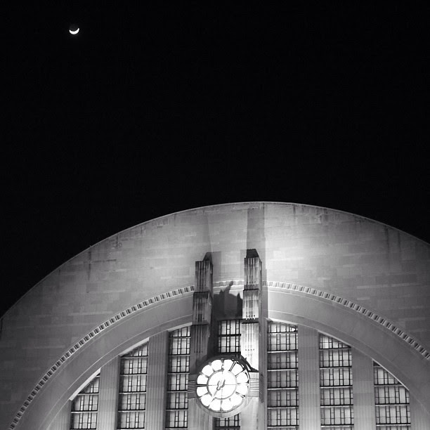 moon over Union Terminal