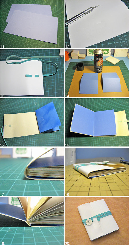 Soft Cover Wrap Around Notebook tutorial 2