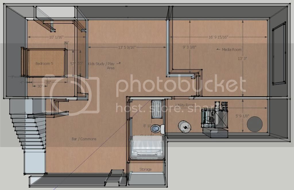 Feedback on Media Room / Basement Design (