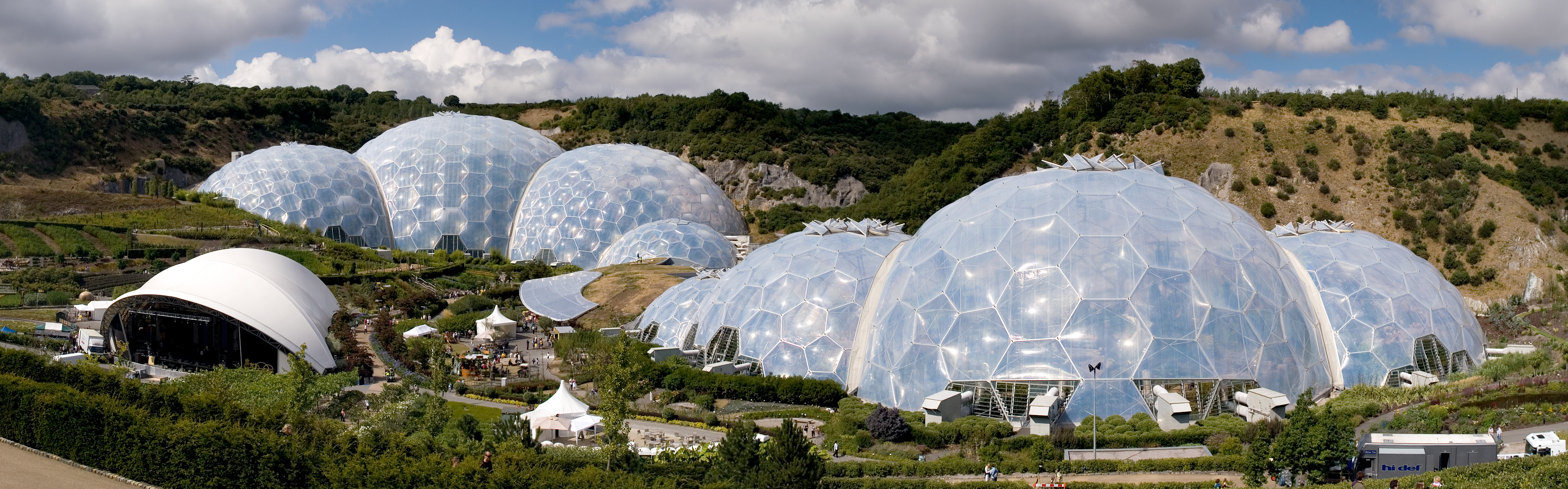 Geodesic domes of the Eden Project in United Kingdom