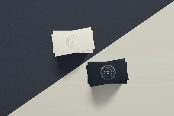 Spot Uv Business Card Mockup Duo Psd