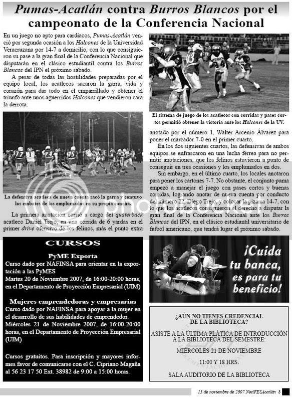 Da click aquí para ver la imagen completa en otra ventana... pág. 3 del NotiFESA, 13-Nov-2007