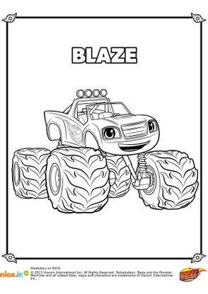 Coloriage Blaze Coloriage Blaze Et Les Monster Machines
