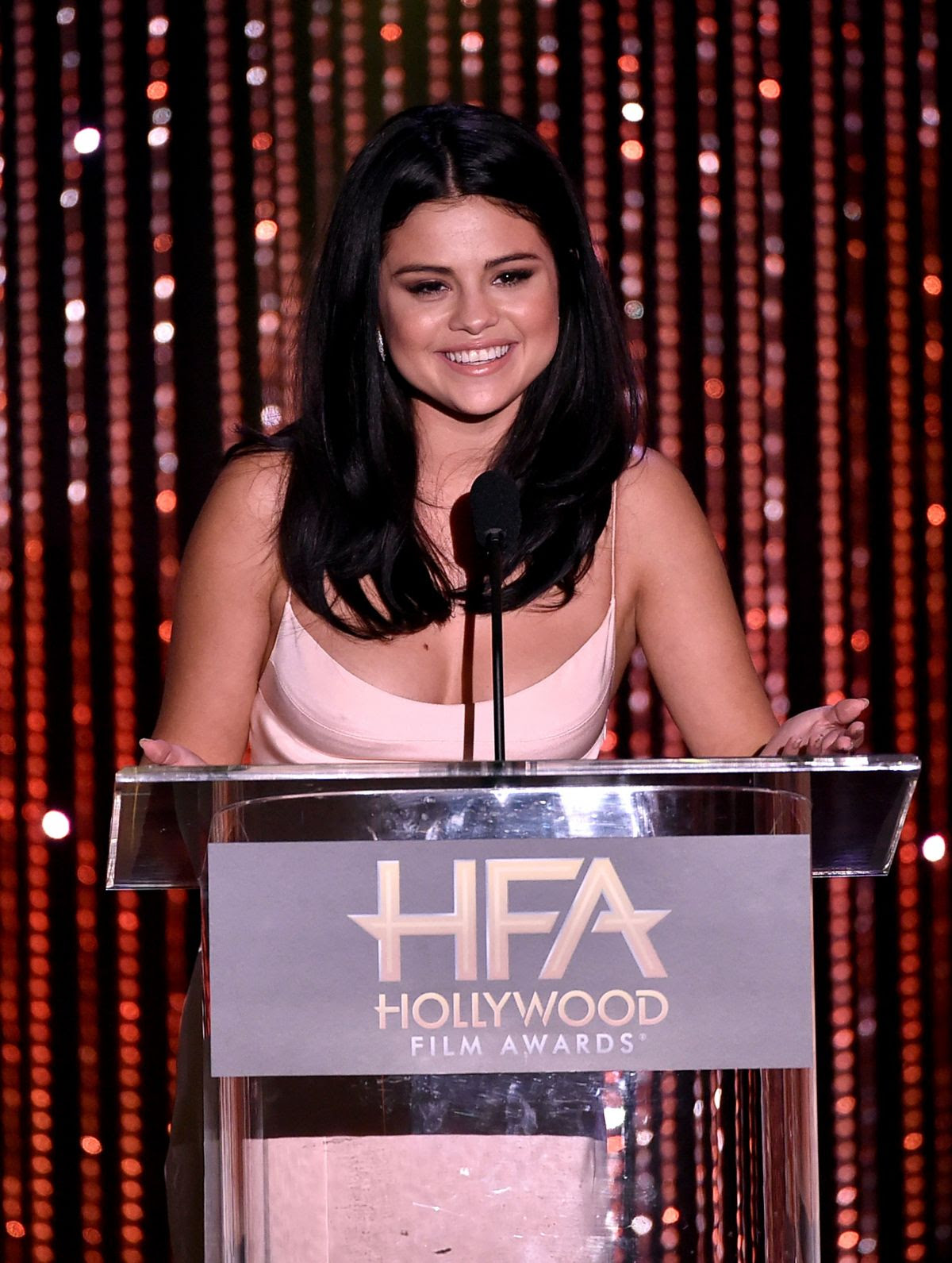 SELENA GOMEZ at 2015 Hollywood Film Awards in Beverly Hills 11/01/2015