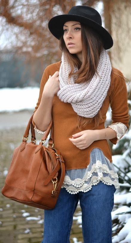 Rose Wholesale lace design Brown Sweater