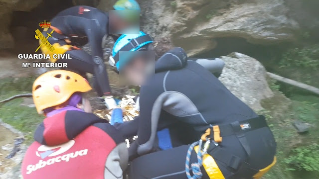 La Guardia Civil rescata a un barranquista tras sufrir un accidente en Cazorla (Jaén)