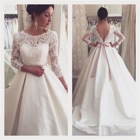 Vintage Lace Winter Fall Wedding Dresses 3 4 Long Sleeve