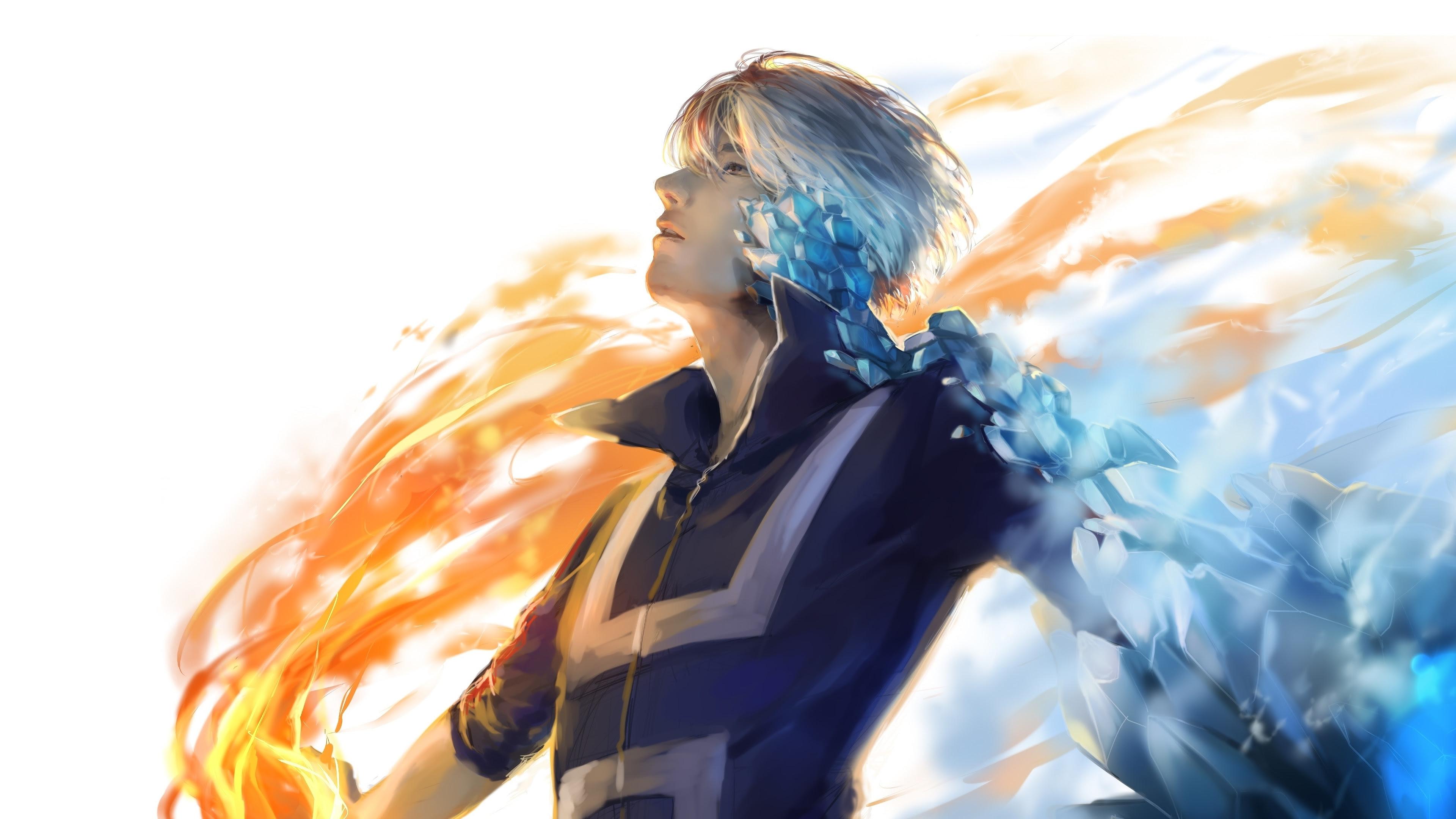 Download 3840x2160 wallpaper anime boy, artwork, shouto ...