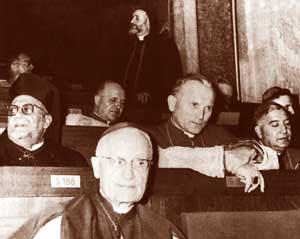 Karol Wojtyla en el Concilio ecuménico Vaticano II [© AP/LaPresse]