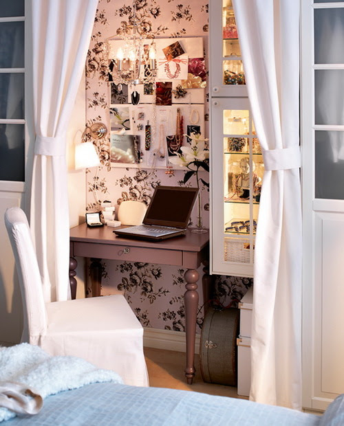 Small Home Office Design Ideas on we heart it / visual bookmark #