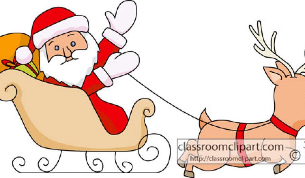 Santa Sleigh Clip Art Free Vector N Clip Art