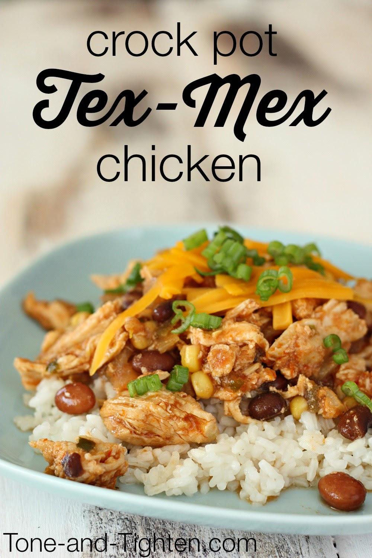 Healthy Crock Pot Tex-Mex Chicken Recipe   Tone and Tighten