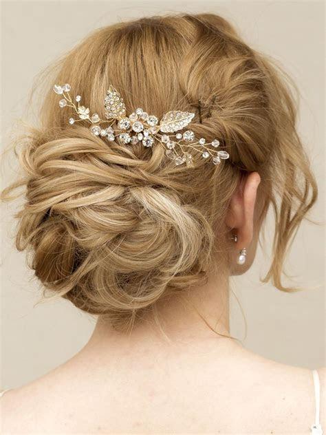 "Gold Rhinestone & Crystal Hair Vine Comb ~ ""Elke"" in Gold"