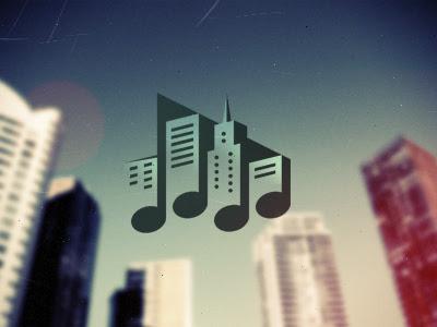 Logo Designs town1 música 40 músicas baseadas