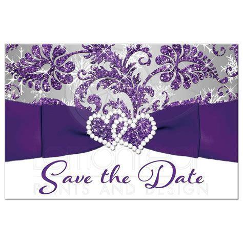 Winter Wonderland Wedding Save the Date Card   Purple