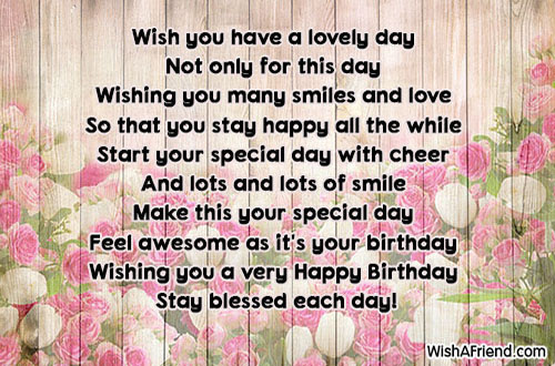 Wish You Have A Lovely Day Cute Birthday Quote