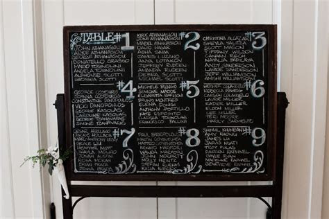 my vintage chalkboard sign for a wedding seating