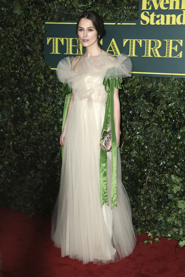 evening standard theatre awards 2017 red carpet celebrities Keira Knightley