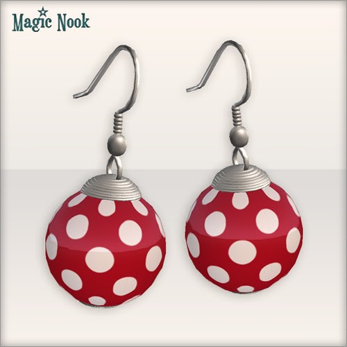[MAGIC NOOK] Shoo Be Doo Set - Earrings (Red) Close Up