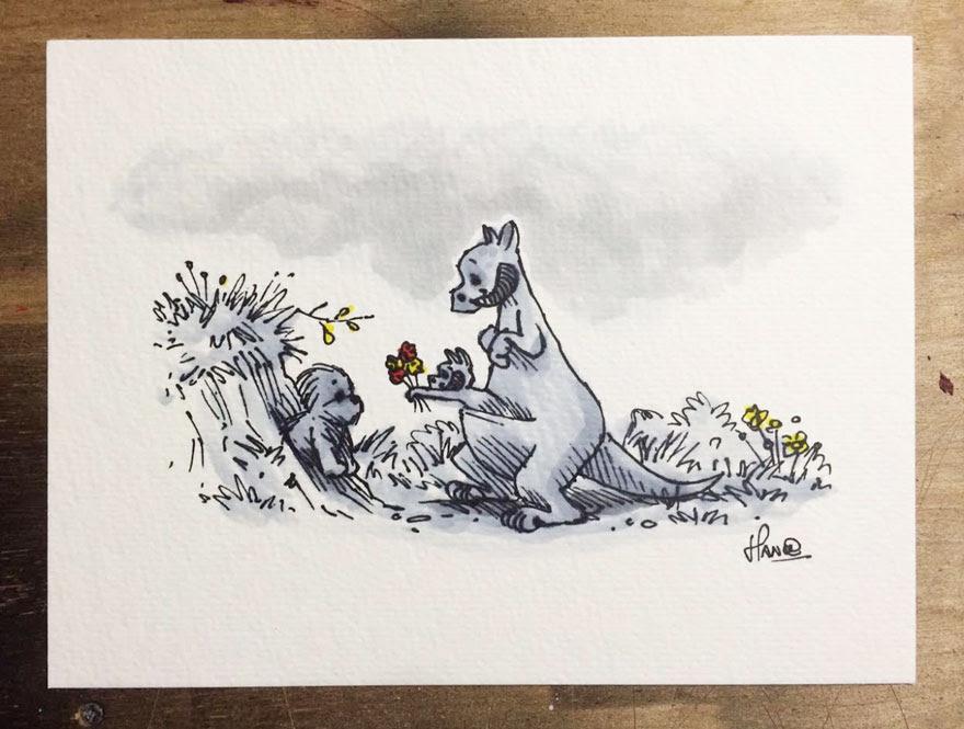 dibujos-mezcla-winnie-pooh-guerra-galaxias-james-hance (8)