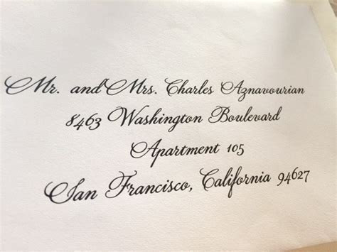 Calligraphy for Envelope Addressing   Lily Wang Font Style