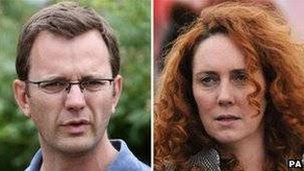 Andy Coulson and Rebekah Brooks: