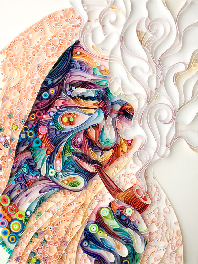 New Quilled Paper Portrait from Yulia Brodskaya quilling portraits paper illustration