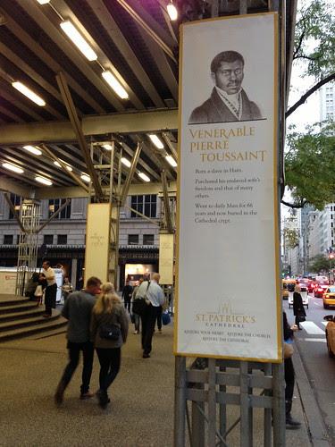 Pierre Toussaint banner, St. Patrick's Cathedral