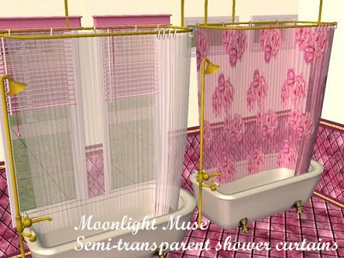 Mod The Sims Semi Transparent Colonial Shower Curtains Updated
