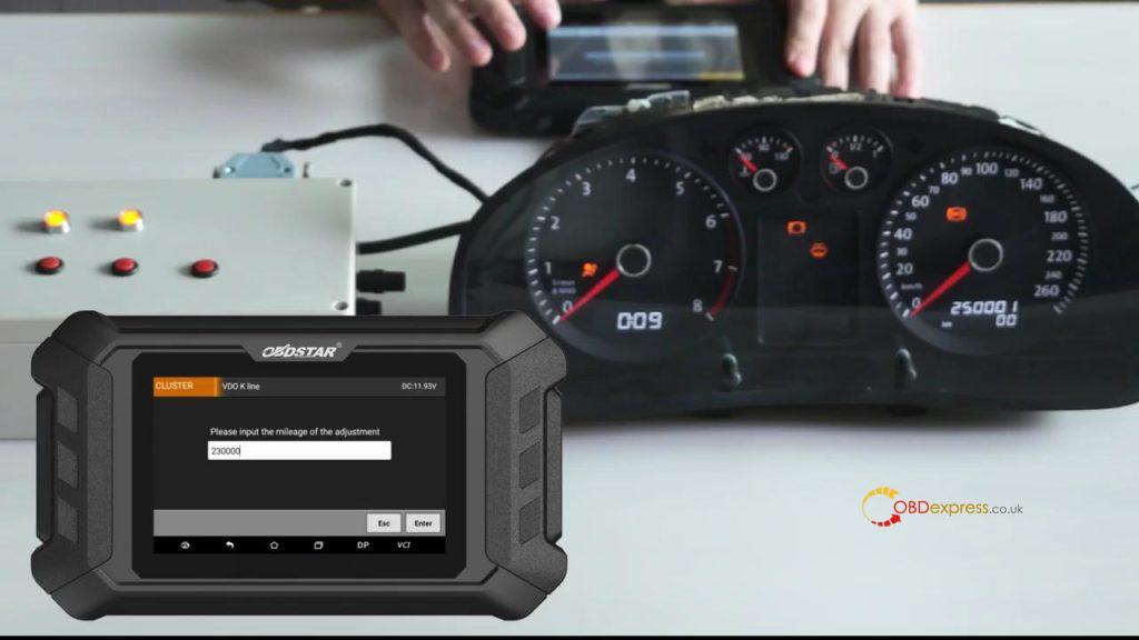Obdstar Odo Mästare VW Passat vägmätare Correction 12