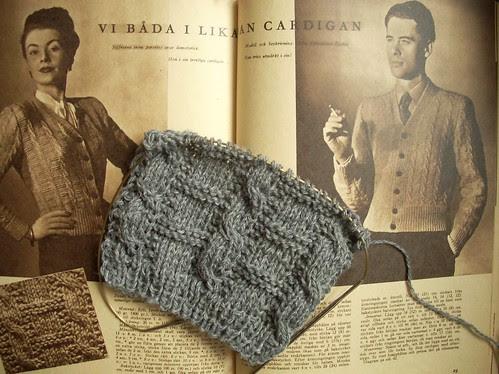 Vintage knitting by Asplund