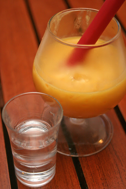 Stacked Mango Sago Pomelo with Peach Vodka