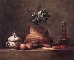 Still life with Brioche, Jean-Baptiste Siméon Chardin
